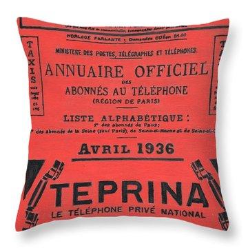 April In Paris 1936 Throw Pillow