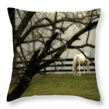 April Showers Throw Pillow by Cris Hayes
