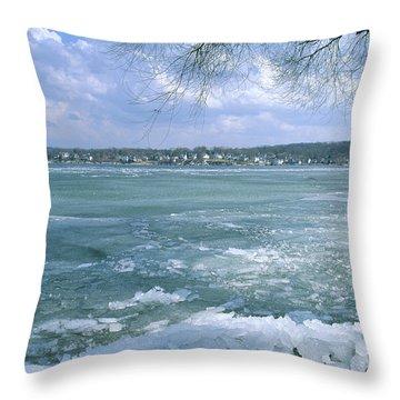 April Thaw - Lake Geneva Wisconsin Throw Pillow