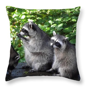 Apron Strings Not Cut Throw Pillow by Kym Backland