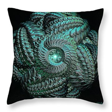 Aqua Celtic Mandala Throw Pillow by Michael Durst