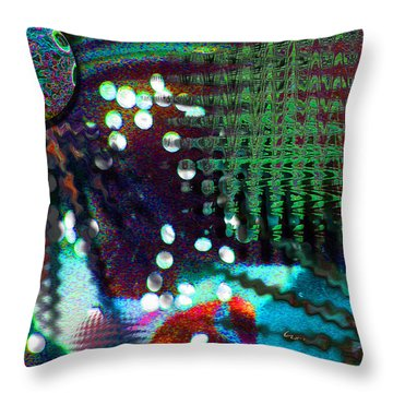 Aqua Dish Throw Pillow
