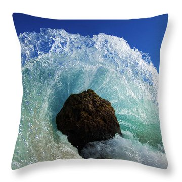 Aqua Dome Throw Pillow