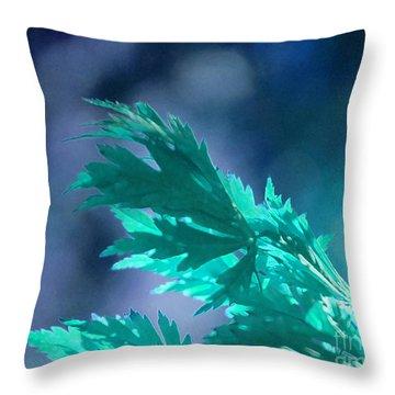 Aqua Dreams  Throw Pillow by First Star Art