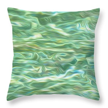 Aqua Green Water Art 2 Throw Pillow by Kaye Menner