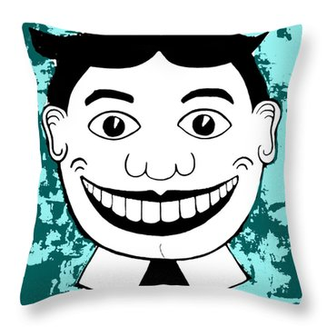 Aqua Pop Tillie Throw Pillow by Patricia Arroyo
