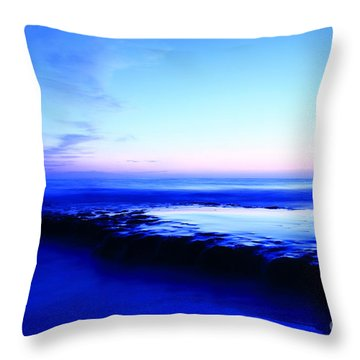 Throw Pillow featuring the photograph Swamis Aqua Reef  by John F Tsumas