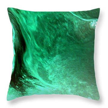 Aqua Tree Throw Pillow by Salman Ravish