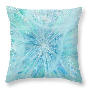 Aqua Salsify Throw Pillow