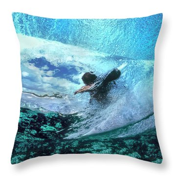 Blue Womb Throw Pillow