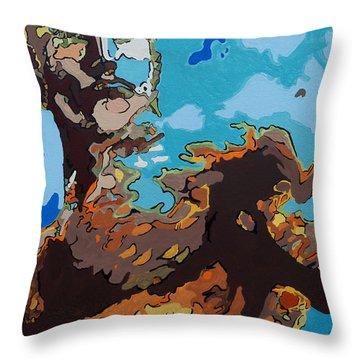 Aquaman - Reflections Throw Pillow by Kelly Hartman