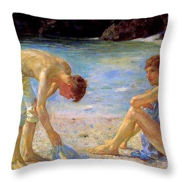 Aquamarine   Throw Pillow
