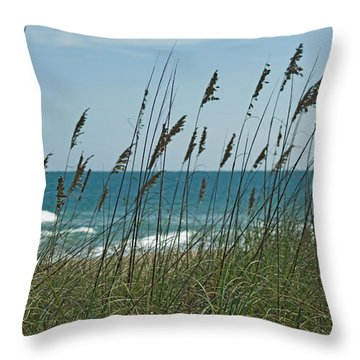 Aquanique Beach Throw Pillow