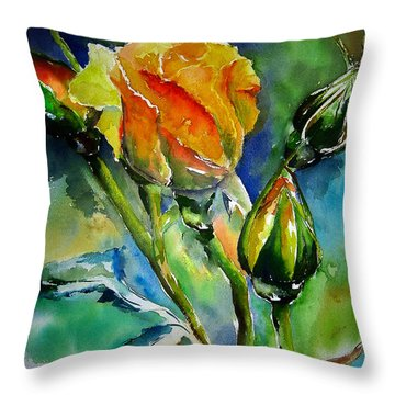 Aquarelle Throw Pillow