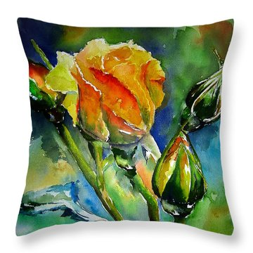 Aquarelle Throw Pillow