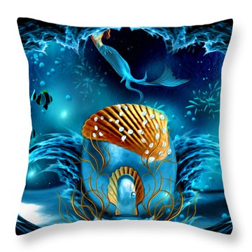 Aquarium - Fantasy Art By Giada Rossi Throw Pillow
