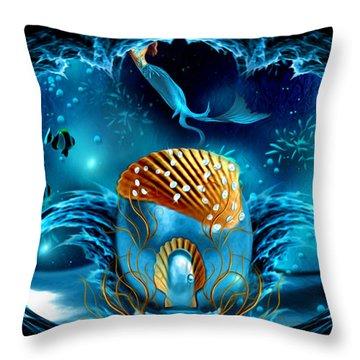 Aquarium - Fantasy Art By Giada Rossi Throw Pillow by Giada Rossi