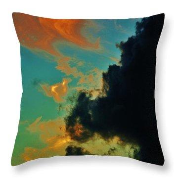 Aquarium In The Sky Throw Pillow