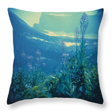 Aquarium Mountain Throw Pillow