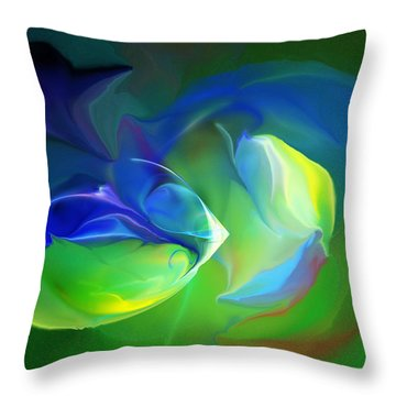 Throw Pillow featuring the digital art Aquatic Illusions by David Lane