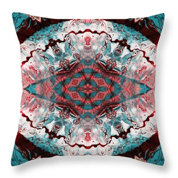 Aquatic Lace 5 Throw Pillow by Shawna Rowe