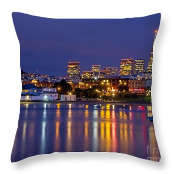 Aquatic Park Blue Hour Throw Pillow