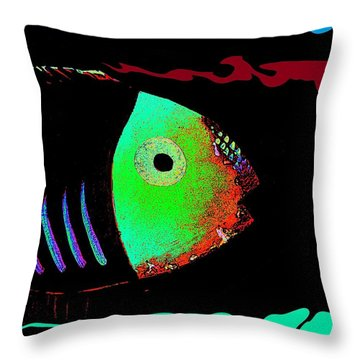 Aquatuna Throw Pillow