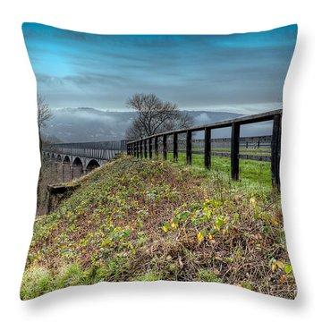 Aqueduct At Pontcysyllte Throw Pillow by Adrian Evans