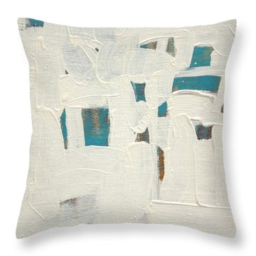 Throw Pillow featuring the painting Aqueous  C2013 by Paul Ashby