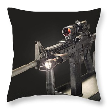 Ar 15 On Black Throw Pillow