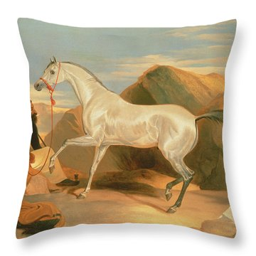 Arab Stallion Throw Pillow
