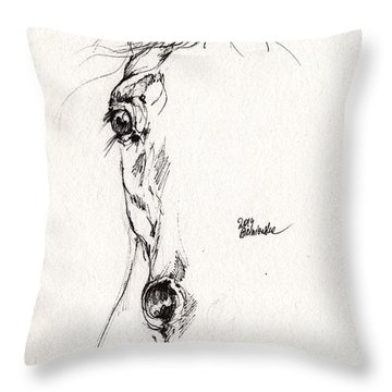 Arabian Horse Drawing 2014 05 30 Throw Pillow