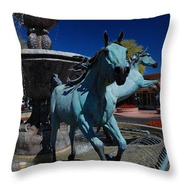 Arabian Horse Sculpture Throw Pillow