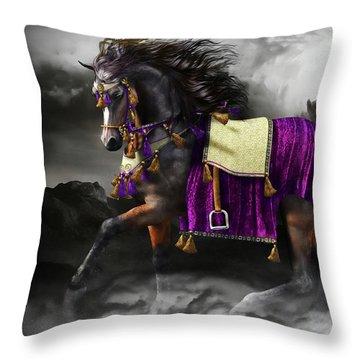 Arabian Horse  Shaitan Throw Pillow