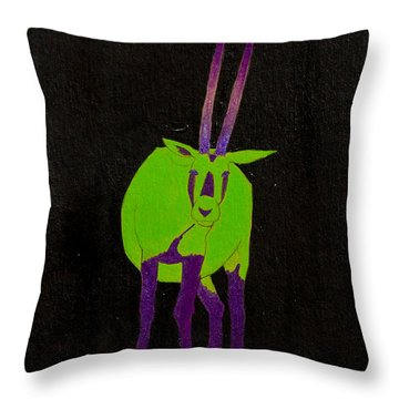 Arabian Oryx Throw Pillow
