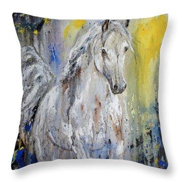 Throw Pillow featuring the painting Arabian Spirit by Jennifer Godshalk