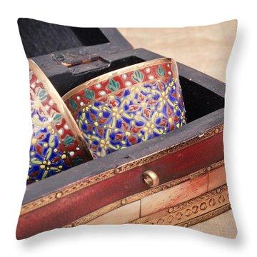 Arabian Teacups Throw Pillow