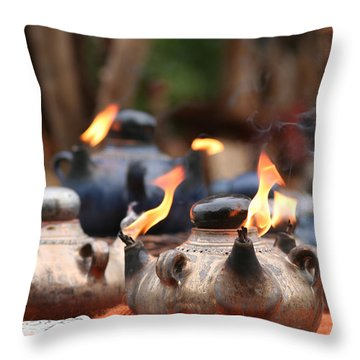 Arabic Oil Lamp Throw Pillow