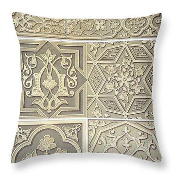 Arabic Tile Designs  Throw Pillow by Anonymous