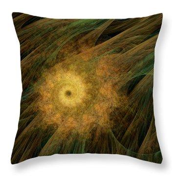 Arachne's Ammonite  Throw Pillow