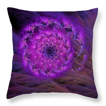 Arachne's Nautilus  Throw Pillow
