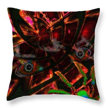 Arachnes Spell Throw Pillow