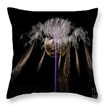 Throw Pillow featuring the digital art Arachnophobia #2 by Russell Kightley