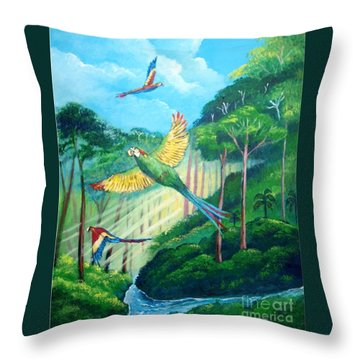 Aras On The Forest Throw Pillow