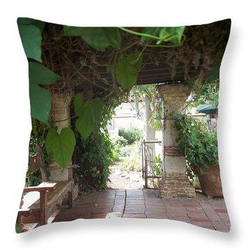 Arbor San Juan Capistrano Throw Pillow