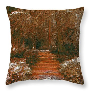 Arbor Steps Throw Pillow by Tim Allen