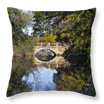 Arboretum Drive Bridge - Madison - Wisconsin Throw Pillow