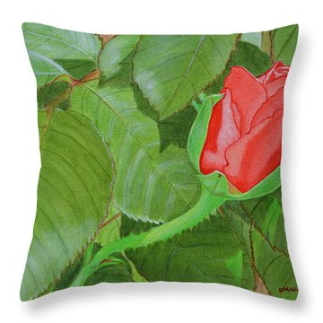 Arboretum Rose Throw Pillow