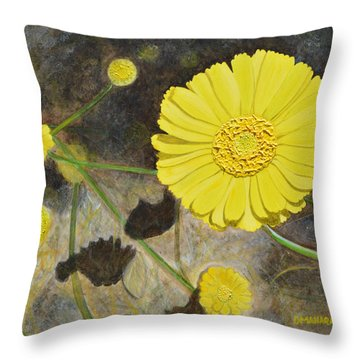 Arboretum Wild Flower  Throw Pillow