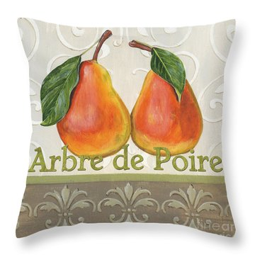 Arbre De Poire Throw Pillow by Debbie DeWitt